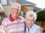 Elderly Couple Arm in Arm