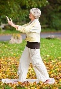 Senior Citizen Practicing Tai Chi