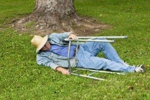 Elderly Man With Walker Who has Fallen