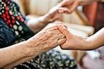 Holding a Senior Parent's Hands