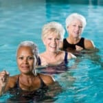Seniors in Swimming Pool Together
