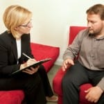 woman interviewing patient