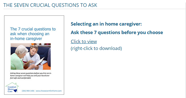 Seven Crucial Questions to Ask Before Choosing a Caregiver