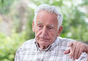 Elderly man lost and showing early signs of dementia