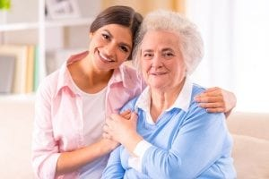 in-home care agency working with an elderly woman who can walk and complete daily activities but still needs assistance driving and going places