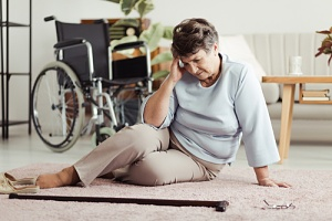 a woman confused that needs fall prevention strategies