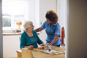 a woman happy because she knows how much in home care costs