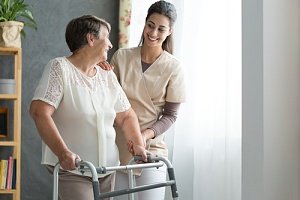 an older woman happy because she chose the right in home care agency