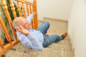 old man falling with no fall prevention