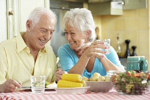 older couple happy with their very best diet for seniors