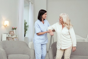 woman experiencing the benefits of in-home care services