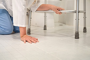 a senior who fell in the bathroom, resulting in her family creating a fall prevention plan